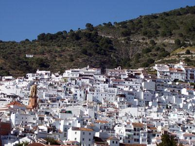 Competa in Andalusie